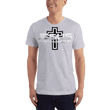 Load image into Gallery viewer, American Patriots Apparel Men's T-Shirt Heather Grey / S Jesus Is My Homeboy Black Cross T-Shirt (13 Variants)