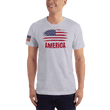 Load image into Gallery viewer, American Patriots Apparel Men's T-Shirt Heather Grey / XS AMERICA T-Shirt (13 Variants)