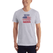 Load image into Gallery viewer, American Patriots Apparel Men's T-Shirt Heather Grey / XS God Bless America Distressed Flag T-Shirt (13 Variants)