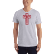 Load image into Gallery viewer, American Patriots Apparel Men's T-Shirt Heather Grey / XS Red and White Cross T-Shirt (13 Variants)