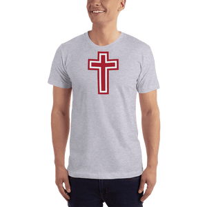 American Patriots Apparel Men's T-Shirt Heather Grey / XS Red and White Cross T-Shirt (13 Variants)