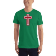 Load image into Gallery viewer, American Patriots Apparel Men's T-Shirt Kelly Green / XS Red and White Cross T-Shirt (13 Variants)