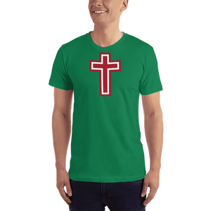 American Patriots Apparel Men's T-Shirt Kelly Green / XS Red and White Cross T-Shirt (13 Variants)
