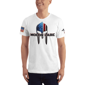 American Patriots Apparel Men's T-Shirt White / XS Molon Labe Spartan Helmet T-Shirt (13 Variants)