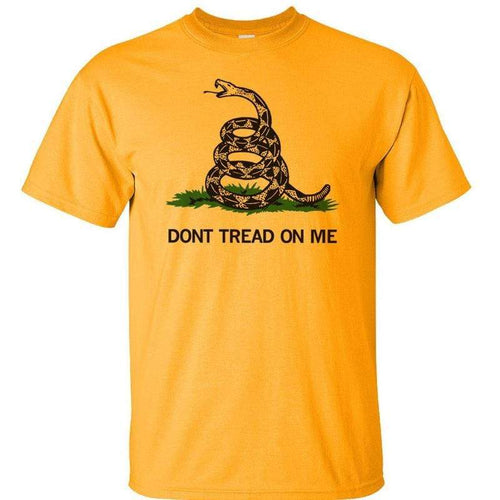 Gadsden and Culpeper Men's T-Shirt Navy / S Front Print Gold Gadsden T-Shirt