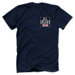 Load image into Gallery viewer, Print Brains Men's T-Shirt Navy / XS ALL LIVES MAGA Left Chest Tee (6 Variants)