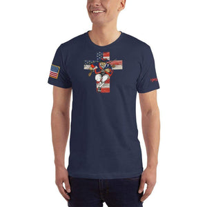 American Patriots Apparel Men's T-Shirt Navy / XS American Patriots for God and Country Cross Logo 'Merica Tee (14 Variants)