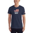 Load image into Gallery viewer, American Patriots Apparel Men's T-Shirt Navy / XS God Bless America Distressed American Flag Short Sleeve T-Shirt (16 Variants)