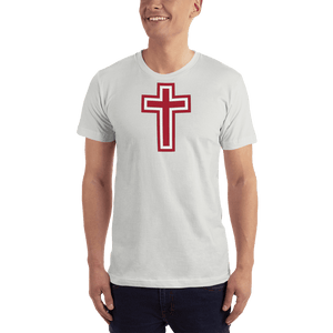 American Patriots Apparel Men's T-Shirt New Silver / XS Red and White Cross T-Shirt (13 Variants)