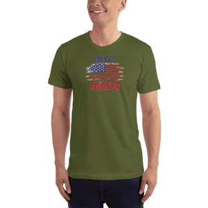 American Patriots Apparel Men's T-Shirt Olive / XS God Bless America Distressed Flag T-Shirt (13 Variants)