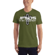 Load image into Gallery viewer, American Patriots Apparel Men's T-Shirt Olive / XS Jesus Is My Homeboy Black Cross T-Shirt (13 Variants)