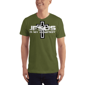 American Patriots Apparel Men's T-Shirt Olive / XS Jesus Is My Homeboy Black Cross T-Shirt (13 Variants)