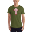 Load image into Gallery viewer, American Patriots Apparel Men's T-Shirt Olive / XS Red and White Cross T-Shirt (13 Variants)