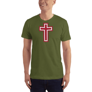 American Patriots Apparel Men's T-Shirt Olive / XS Red and White Cross T-Shirt (13 Variants)
