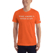 Load image into Gallery viewer, American Patriots Apparel Men's T-Shirt Orange / XS Make America Saved Again 1 Cor. 15:1-4 Short Sleeve Tee (16 Variants)
