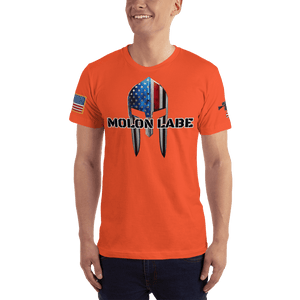 American Patriots Apparel Men's T-Shirt Orange / XS Molon Labe Spartan Helmet T-Shirt (13 Variants)