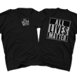 Load image into Gallery viewer, Print Brains Men's T-Shirt Port & Co US Made Cotton Tee / Black / S ALL Lives Matter Left Chest Tee (6 Variants)