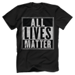 Load image into Gallery viewer, Print Brains Men's T-Shirt Port & Co US Made Cotton Tee / Black / S ALL Lives Matter Tee (6 Variants)