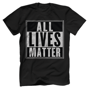 Print Brains Men's T-Shirt Port & Co US Made Cotton Tee / Black / S ALL Lives Matter Tee (6 Variants)