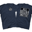 Load image into Gallery viewer, Print Brains Men's T-Shirt Port & Co US Made Cotton Tee / Navy / S ALL Lives Matter Left Chest Tee (6 Variants)