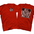 Load image into Gallery viewer, Print Brains Men's T-Shirt Port & Co US Made Cotton Tee / Red / S ALL Lives Matter Left Chest Tee (6 Variants)