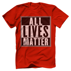 Print Brains Men's T-Shirt Port & Co US Made Cotton Tee / Red / S ALL Lives Matter Tee (6 Variants)