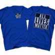Load image into Gallery viewer, Print Brains Men's T-Shirt Port & Co US Made Cotton Tee / Royal Blue / S ALL Lives Matter Left Chest Tee (6 Variants)