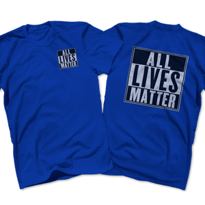 Print Brains Men's T-Shirt Port & Co US Made Cotton Tee / Royal Blue / S ALL Lives Matter Left Chest Tee (6 Variants)