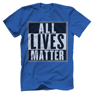 Print Brains Men's T-Shirt Port & Co US Made Cotton Tee / Royal Blue / S ALL Lives Matter Tee (6 Variants)