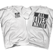 Load image into Gallery viewer, Print Brains Men's T-Shirt Port & Co US Made Cotton Tee / White / S ALL Lives Matter Left Chest Tee (6 Variants)