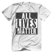 Load image into Gallery viewer, Print Brains Men's T-Shirt Port & Co US Made Cotton Tee / White / S ALL Lives Matter Tee (6 Variants)