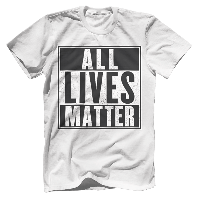 Print Brains Men's T-Shirt Port & Co US Made Cotton Tee / White / S ALL Lives Matter Tee (6 Variants)