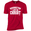 Load image into Gallery viewer, American Patriots Apparel Men's T-Shirt Red / 4XL RESURRECTION LIFE IN CHRIST Premium Short Sleeve T-Shirt (4 Variants)