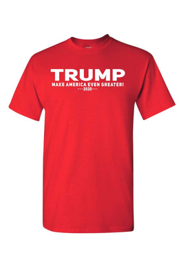 American Patriots Apparel Men's T-Shirt Red / LARGE / FRONT Unisex Trump Make America Even Greater Short Sleeve Shirt (5 Variants)