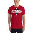 Load image into Gallery viewer, American Patriots Apparel Men's T-Shirt Red / S Jesus Is My Homeboy Black Cross T-Shirt (13 Variants)