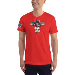 American Patriots Apparel Men's T-Shirt Red / XS American Patriots for God and Country Cross Logo 'Merica Tee (14 Variants)