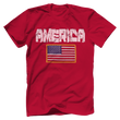 Load image into Gallery viewer, Print Brains Men's T-Shirt Red / XS / Bella + Canvas US Made Cotton Crew AMERICA Hulk Font Official Army Flag Tee (6 Variants)