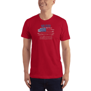 American Patriots Apparel Men's T-Shirt Red / XS God Bless America Distressed Flag T-Shirt (13 Variants)