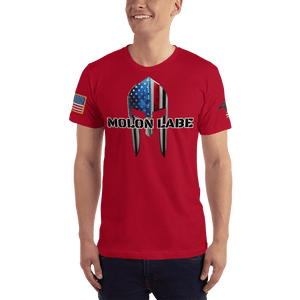 American Patriots Apparel Men's T-Shirt Red / XS Molon Labe Spartan Helmet T-Shirt (13 Variants)
