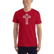 Load image into Gallery viewer, American Patriots Apparel Men's T-Shirt Red / XS Red and White Cross T-Shirt (13 Variants)