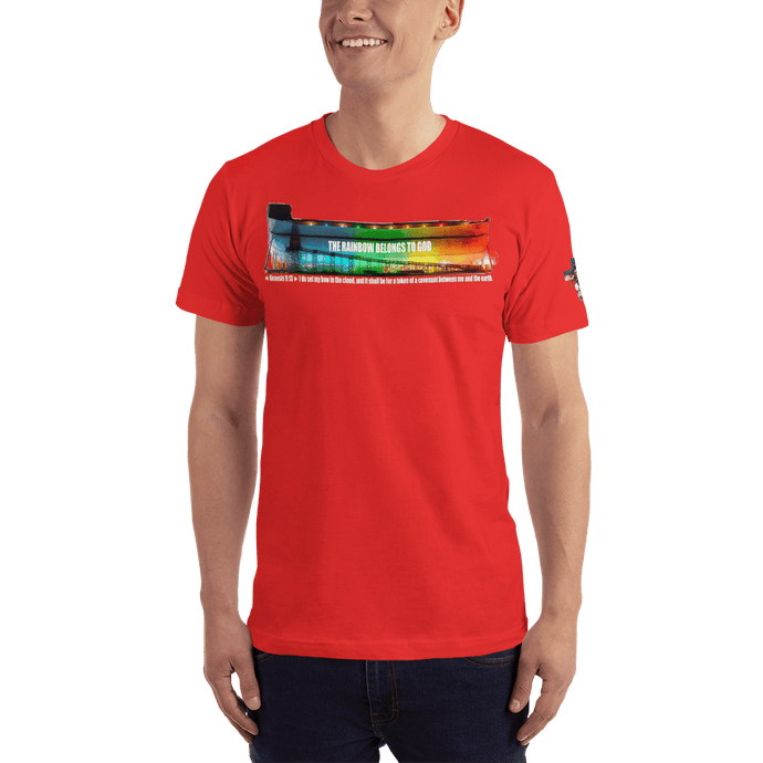 American Patriots Apparel Men's T-Shirt Red / XS The Rainbow Belongs To God Genesis 9:13 Noah's Ark Tee (13 Variants)