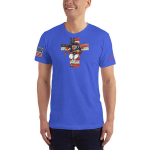 American Patriots Apparel Men's T-Shirt Royal Blue / XS American Patriots for God and Country Cross Logo 'Merica Tee (14 Variants)