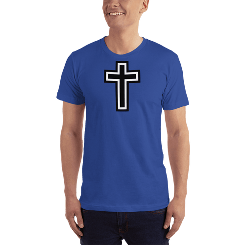 American Patriots Apparel Men's T-Shirt Royal Blue / XS Black and White Cross T-Shirt (13 Variants)