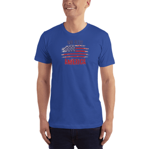 American Patriots Apparel Men's T-Shirt Royal Blue / XS God Bless America Distressed Flag T-Shirt (13 Variants)