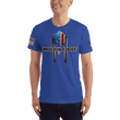 Load image into Gallery viewer, American Patriots Apparel Men's T-Shirt Royal Blue / XS Molon Labe Spartan Helmet T-Shirt (13 Variants)