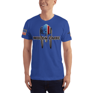 American Patriots Apparel Men's T-Shirt Royal Blue / XS Molon Labe Spartan Helmet T-Shirt (13 Variants)