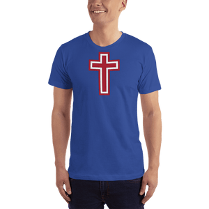 American Patriots Apparel Men's T-Shirt Royal Blue / XS Red and White Cross T-Shirt (13 Variants)