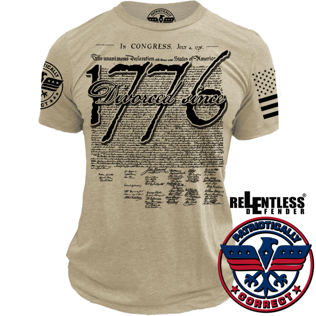 Relentless Defender Men's T-Shirt S / Beige Divorced Since 1776