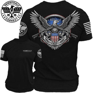 Relentless Defender Men's T-Shirt S / Black 2A American Eagle (2 Variants)