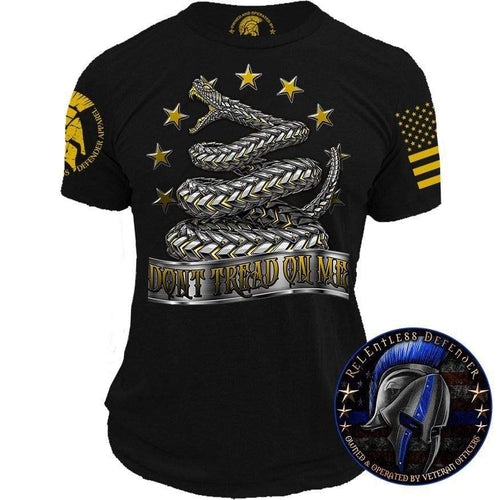 Relentless Defender Men's T-Shirt S / Black Armored Don't Tread On Me